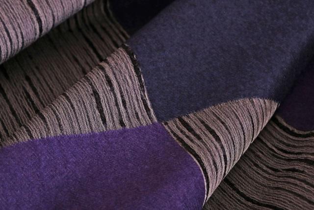 Tissu Mondrian Pannelli Lana ----05 Gris, Violet en Laine