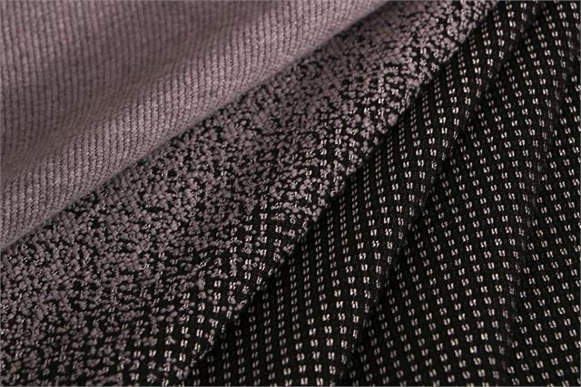 Black, Gray Wool-blend coating Fabric