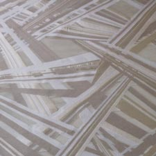 Tissu Organza Geometrico Coupè ----03 Beige, Blanc