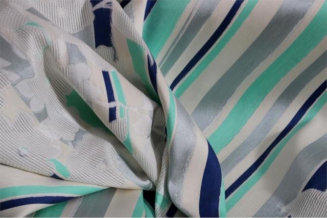 Silk blend organza floral fabric