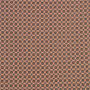 Beige, Brown Cotton-blend Woven Floral Fabric