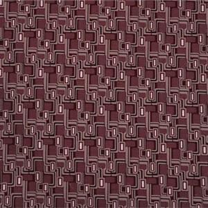 Beige, Purple, Red Cotton-blend Woven Geometric Fabric