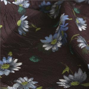 Purple Mixed, Silk Flowers Print fabric for Dress, Shirt, Skirt.