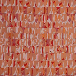 Orange, Red Geometrico Velo 002-01 Fabric