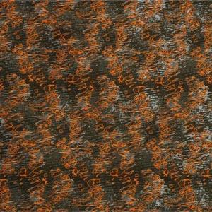 Gray, Green, Orange Macchie Riflesso Decoupè 002-01 Fabric