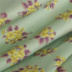 Green, Multicolor, Yellow Mixed Flowers Jacquard fabric for Jacket, Skirt.