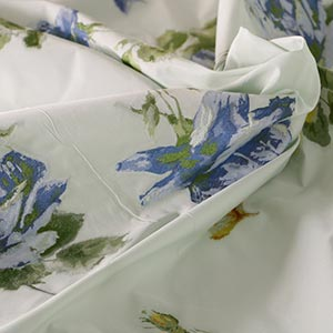 Blue, Green Polyester, Silk Flowers Jacquard fabric for Ceremony Dress, Jacket, Skirt.