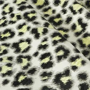 White, Yellow Polyester Animals Jacquard fabric for Dress, Jacket, Light Coat, Skirt.