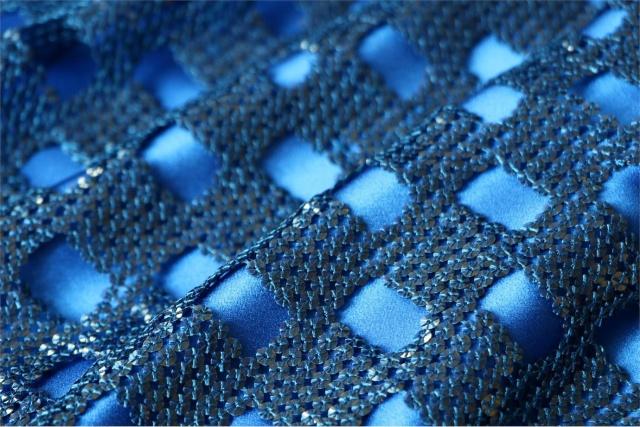 Tissu Paillettes 000503 Bleu en Polyester