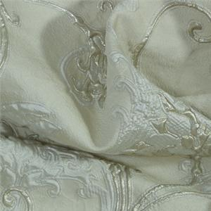 White Mixed Abstract Jacquard fabric for Ceremony Dress, Jacket.