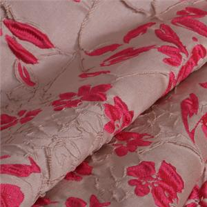 Beige, Pink Mixed Abstract Jacquard fabric for Dress, Jacket, Light Coat, Skirt.