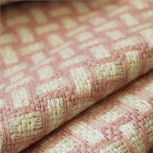 Pink, White Wool Geometric Bouclé/Weave/Tweed fabric for Dress, Jacket.