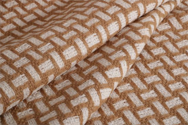 Beige, White Intreccio 000700 Weaved Wool Fabric