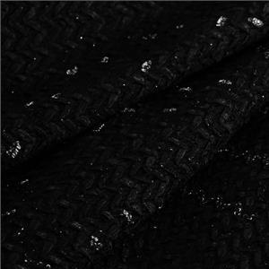 Black, Silver Mixed Geometric Bouclé/Weave/Tweed fabric for Dress.