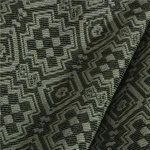 Beige, Green Mixed Abstract Jacquard fabric for Jacket, Pants, Skirt.