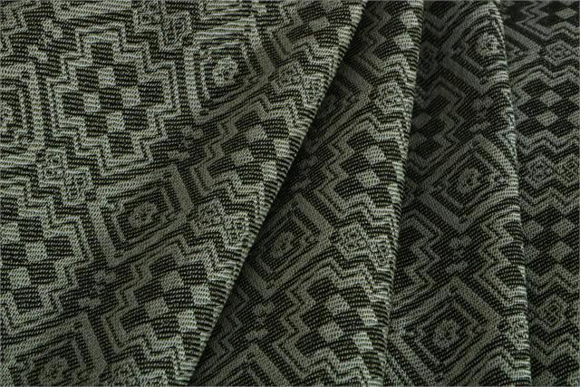 Beige, Green Jacquard 000800 Woven Fabric