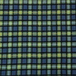Black, Blue, Green, Yellow Tartan Coating Fabric