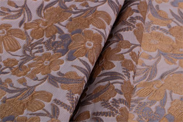Brown, Gray Cloque' 000804 Woven Fabric