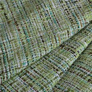 Green Mixed Weaves Bouclé/Weave/Tweed fabric for Dress, Jacket, Skirt.