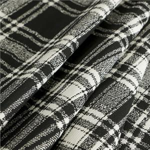 Black, White Mixed Tartan Tartan fabric for Dress, Jacket, Skirt.