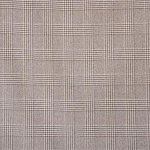 Beige Tartan Wool Coating Fabric - Quadrettato 000800