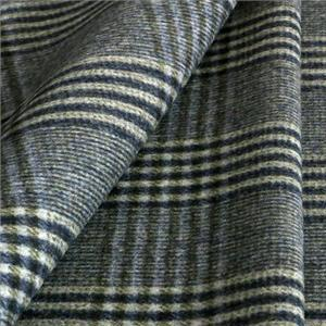Gray, Green Wool Tartan Coat fabric for Coat, Jacket, Skirt.