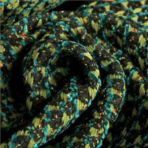 Black, Green Mixed Bouclé/Weave/Tweed fabric for Jacket, Light Coat.