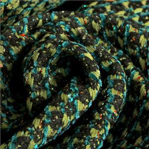 Tessuto Bouclé/Intreccio/Tweed Nero, Verde in Misti per Giacca, Spolverino.