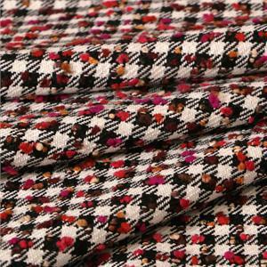 Tessuto Bouclé/Intreccio/Tweed Bianco, Multicolore, Nero, Rosso in Misti per Giacca, Gonna.
