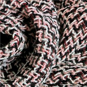 Black, Multicolor, Pink, White Mixed Bouclé/Weave/Tweed fabric for Dress, Jacket, Skirt.