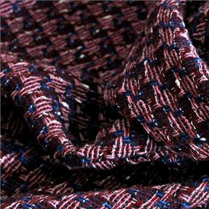 Blue, Multicolor, Pink, White Mixed Bouclé/Weave/Tweed fabric for Dress, Jacket, Skirt.