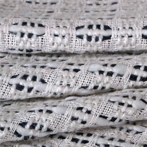 Tessuto Bouclé/Intreccio/Tweed Bianco, Blu in Lana, Misti per Giacca, Gonna.