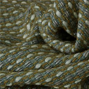 Blue, Gray, White Mixed Bouclé/Weave/Tweed fabric for Jacket, Skirt.