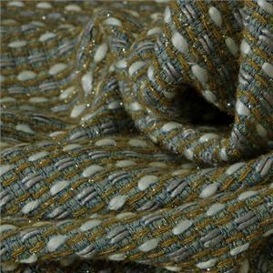 Tessuto Bouclé/Intreccio/Tweed Bianco, Blu, Grigio in Misti per Giacca, Gonna.