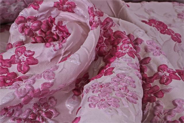 Fuxia, Pink Woven Fabric - Jacquard 001