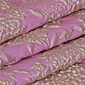 Pink, Purple Mixed Flowers Jacquard fabric for Ceremony Dress, Dress, Jacket, Light Coat.