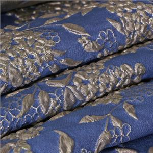 Blue Mixed Flowers Jacquard fabric for Ceremony Dress, Dress, Jacket, Light Coat.