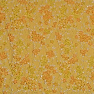 Yellow Woven Fabric - Jacquard 001