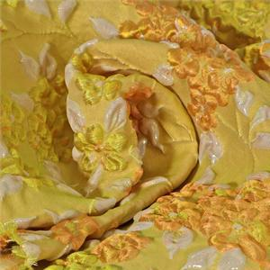 Yellow Mixed Jacquard fabric for Ceremony Dress, Dress, Jacket, Light Coat.