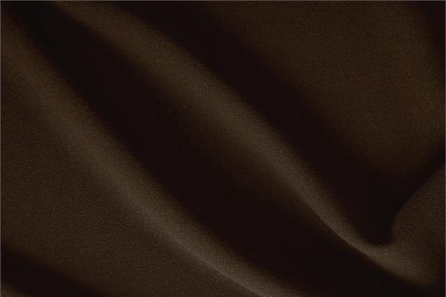 Tissu Crêpe de laine Marron Testa Di Moro en Laine pour vêtements