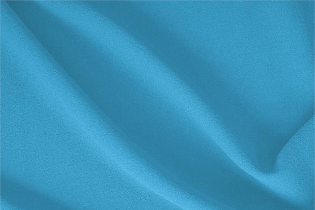 Buy online our clothing and fashion fabric 'Turchese' Blue  Wool Crêpe, Made in Italy. - new tess
