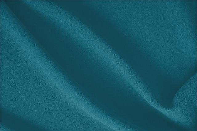 Pavone Blue Wool Wool Crêpe fabric for dressmaking