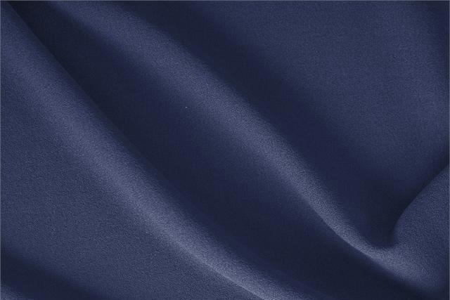 Acquista online il nostro tessuto per abbigliamento, sartoria e moda Crepella di Lana Blu 'Oceano', Made in Italy. - new tess