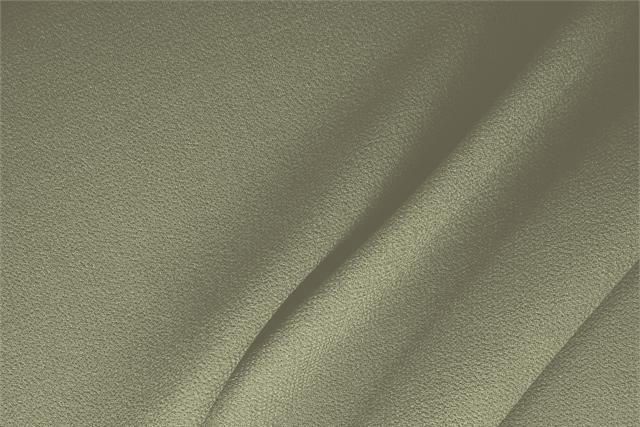 Buy online our clothing and fashion fabric 'Fieno' Green  Wool Double Crêpe, Made in Italy. - new tess