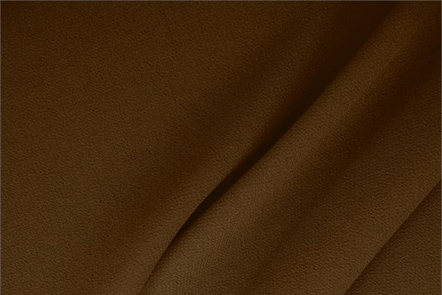 Buy online our clothing and fashion fabric 'Tasso' Brown  Wool Double Crêpe, Made in Italy. - new tess