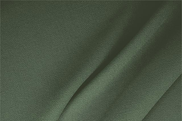 Buy online our clothing and fashion fabric 'Galles' Green  Wool Double Crêpe, Made in Italy. - new tess