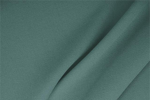 Buy online our clothing and fashion fabric 'Ottanio' Green  Wool Double Crêpe, Made in Italy. - new tess