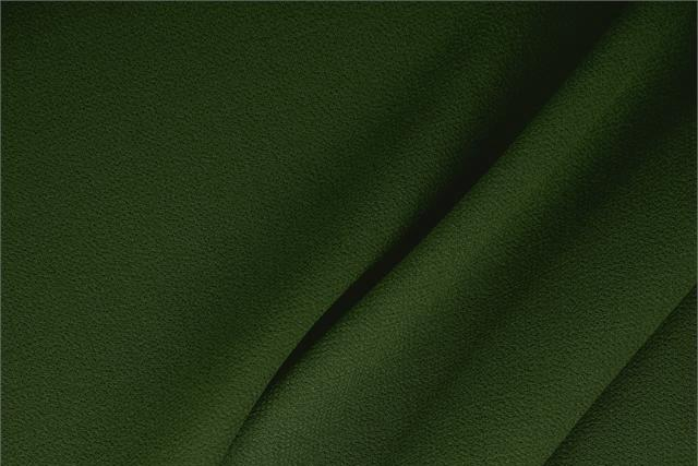 Alloro Green Wool Wool Double Crêpe fabric for dressmaking