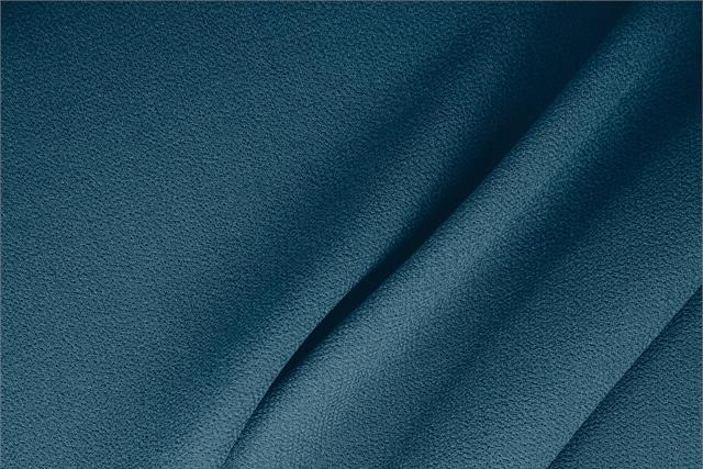 Buy online our clothing and fashion fabric 'Calabrone' Blue  Wool Double Crêpe, Made in Italy. - new tess