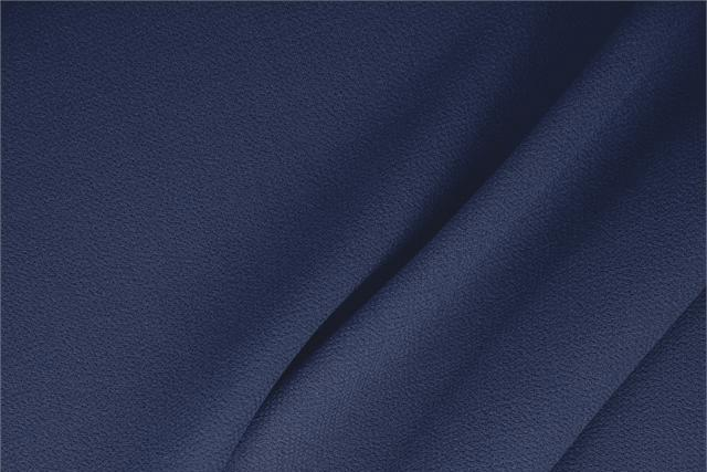 Buy online our clothing and fashion fabric 'Oceano' Blue  Wool Double Crêpe, Made in Italy. - new tess